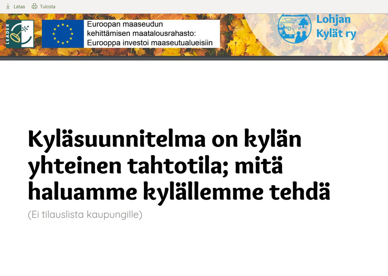 Nummen aluetoimikunnan kokouksessa 28.10.2019