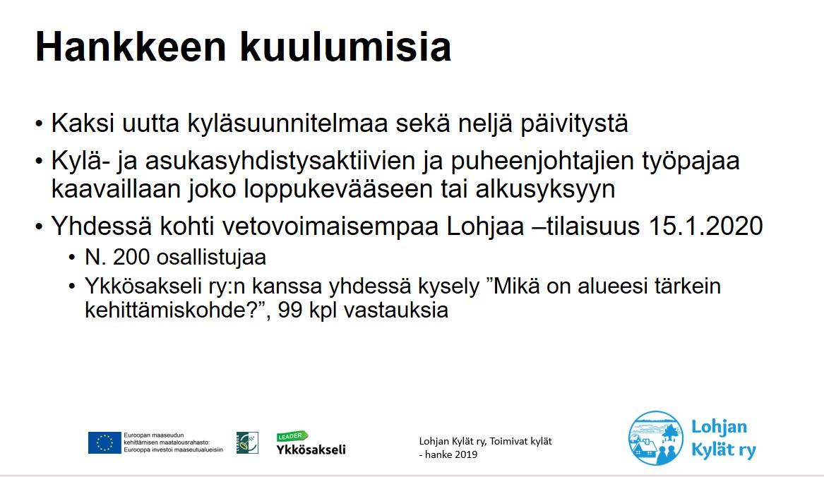 Yhdistysohjelmatyöpaja 5.3.2020